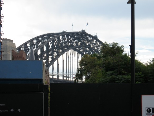 ...in the shadow of the Sydney Harbour Bridge...