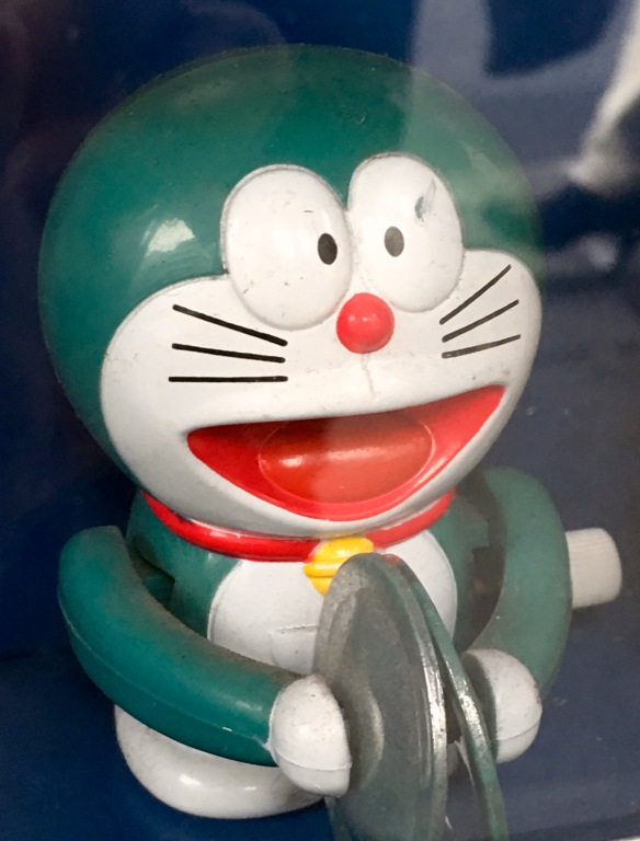 Doraemon toy in food store in Kappabashi-(Photo-© 2016 Louise Graber).