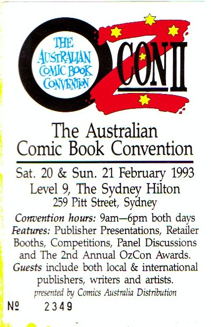 Ticket to an earlier staging of the OZcon event.