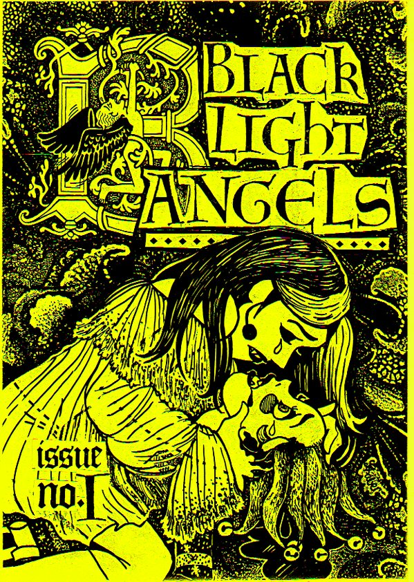 Louise Graber's Black Light Angels comic-first sold at Half A Cow in Glebe.