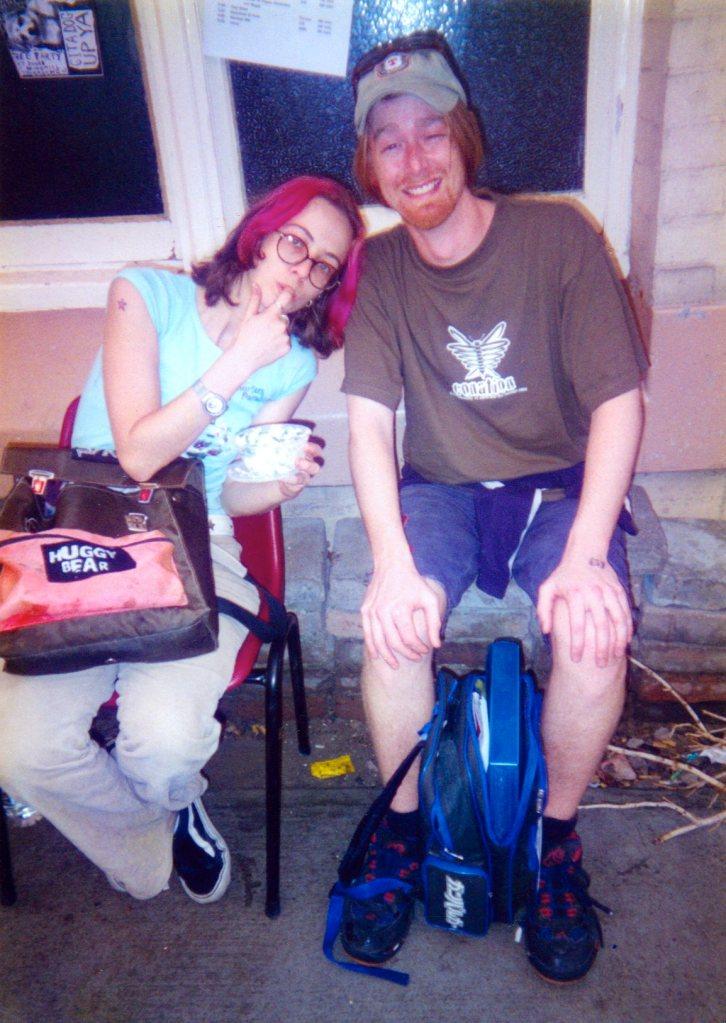 Event organiser Kylie Purr with Glenn Smith.