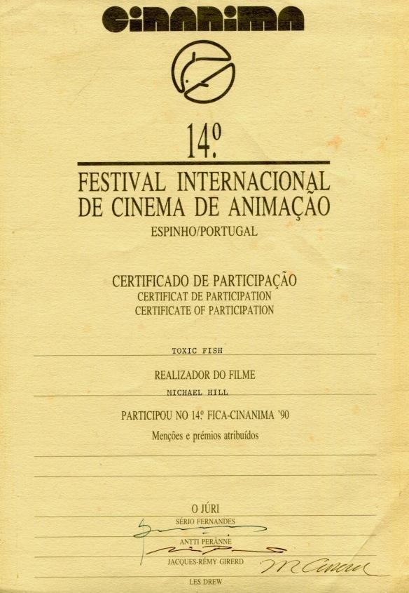 Toxic Fish at CINANIMA 90 International Animated Film Festival, Portugal
