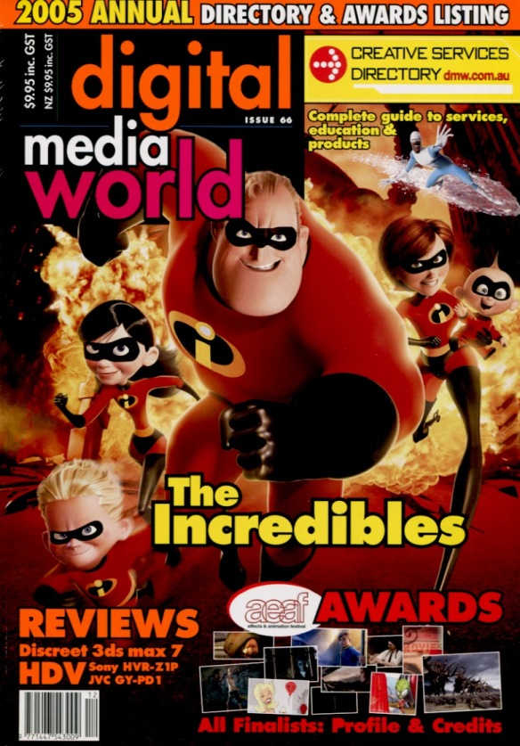 Interview with Brad Bird and Contributing Writer-Digital Media World magazine