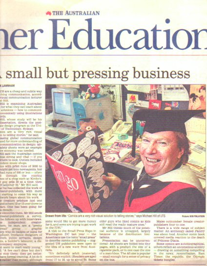 Patrick Lawnham article in The Australian Higher Education section, April 26 2000.