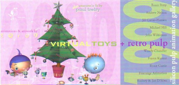 Invitation to Virtual Toys + Retro Pulp exhibition.
