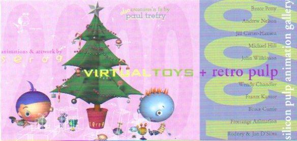 Invitation to Virtual Toys + Retro Pulp exhibition.