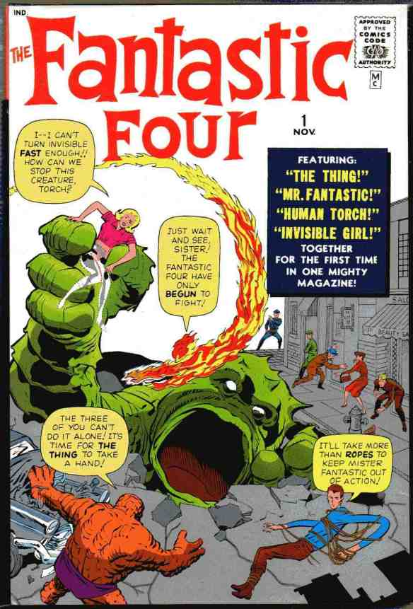 The Jack Kirby cover for the first issue of The Fantastic Four.