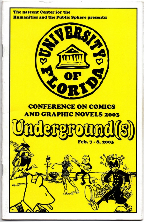 Front cover of Underground(s) conference program. (Design by William S. Kartalopoulos)