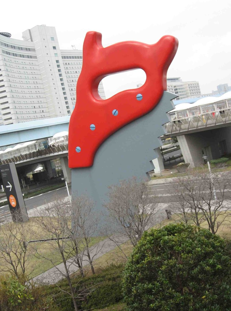 Saw, Sawing by Claes Oldenburg. (Photo by Michael Hill)