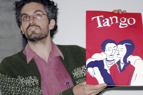 Bernard Caleo proclaimed his comics manifesto and promoted Tango.