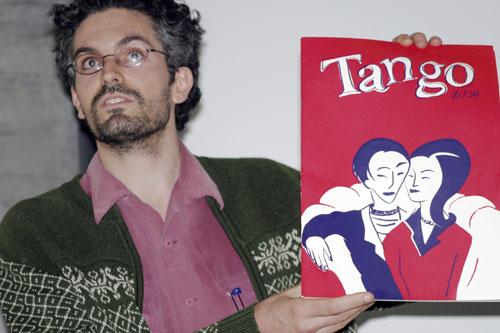 Bernard Caleo proclaimed his comics manifesto and promoted Tango.