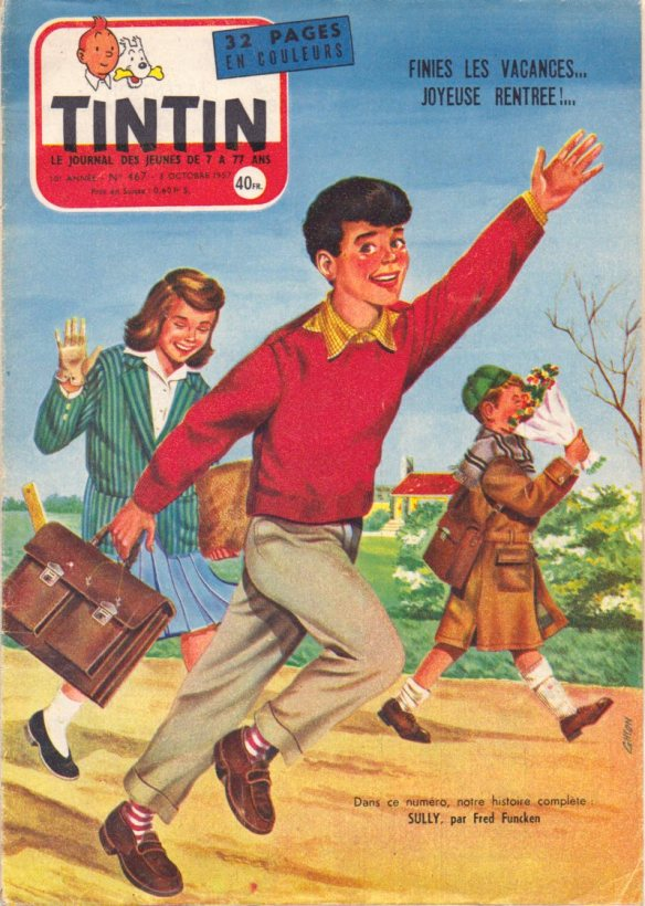 Tintin magazine, No. 467, October 1957.