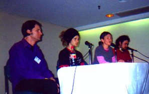 The Comic-Fest panel line-up, L to R, Dillon Naylor, Daniel Gloag, Amber Carvan and Ben Hutchings.