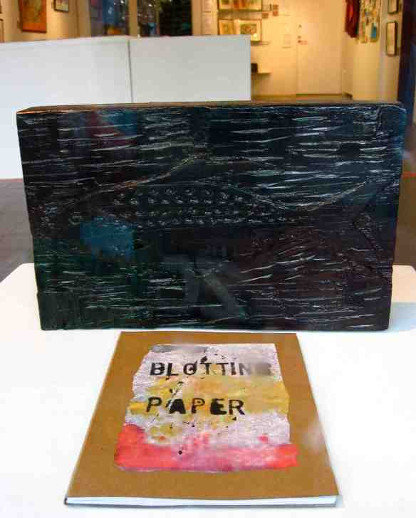 The completed artist book/comic on display in the gallery. (Photo-© 2013 Michael Hill)