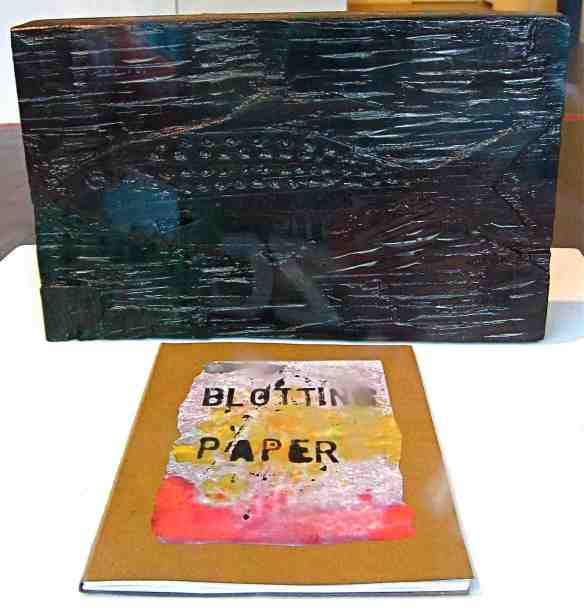 Blotting Paper #2 with woodblock.  (Photo-© 2013 Michael Hill)