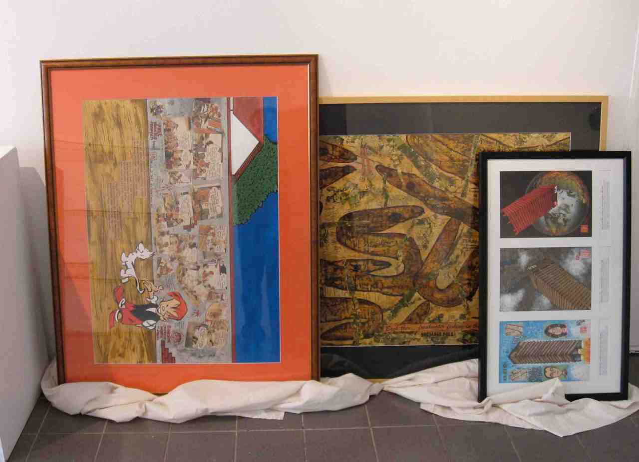 More frames awaiting hanging. (Photo-© 2013 Michael Hill)
