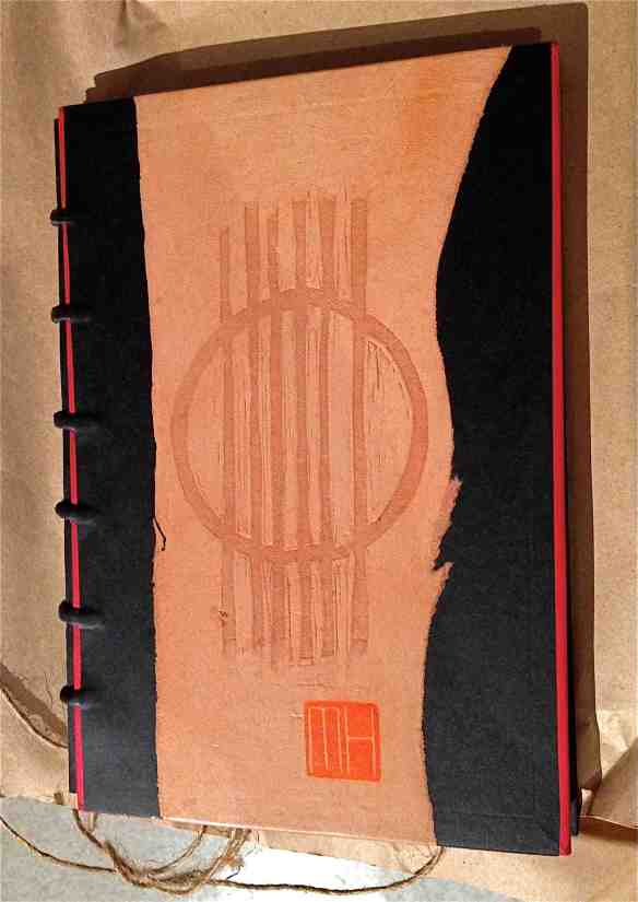 The Grafik Guitar artist book, front cover-bookbinding design by Imogen Yang. (Photo-© 2013 Michael Hill).