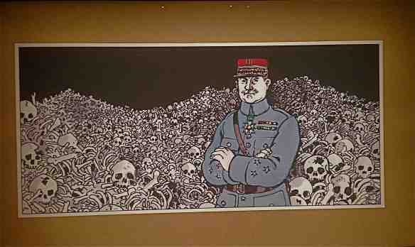 Image from Landscape of Death: Jacques Tardi and the First World War exhibition (Photo-© 2014 Michael Hill).