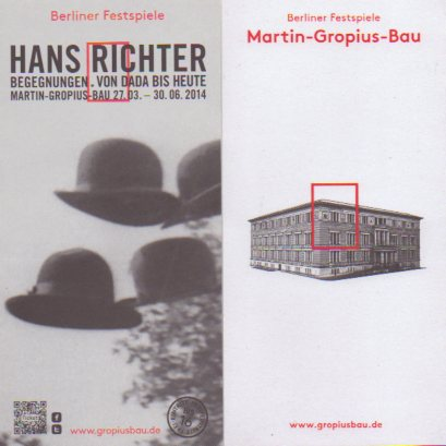 Hans Richter exhibition pamphlet at Martin Gropius Bau.