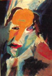Visionary self-portrait by Hans Richter.
