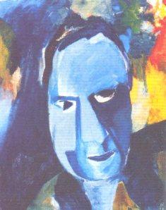 Blauer Mann, 1917, by Hans Richter