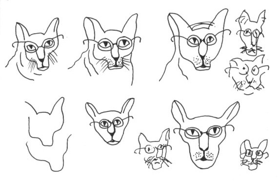 Cartooning the cat character Cohl from Blotting Paper comic-© 2014 Michael Hill
