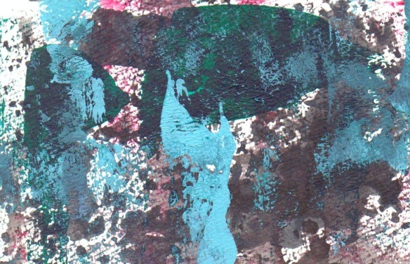 Abstract print image from Blotting Paper comic-© 2014 Michael Hill