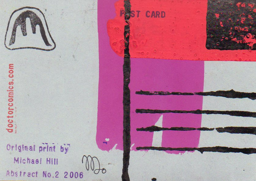 Reverse side of postcard from Abstract No.2 series-© 2006 Michael Hill