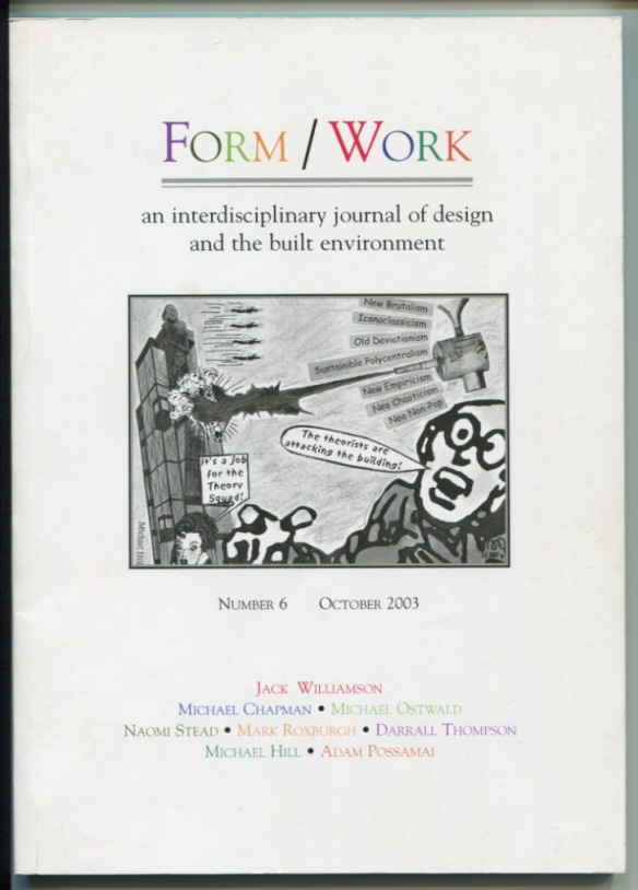 How the cartoon looked on the cover of the journal.